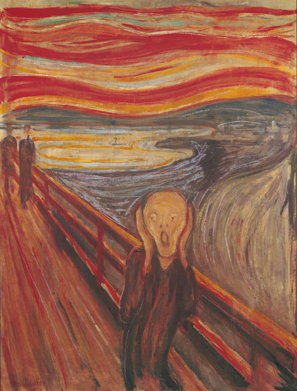 Edvard Munch, The Scream, click for Wikipedia article